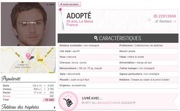 adopte un mec : se faire adopter